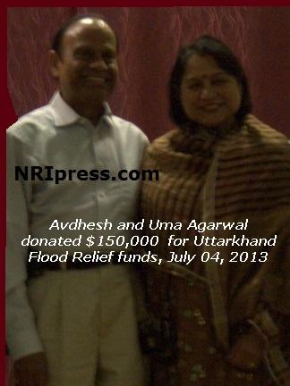 Uttarkhand Flood Relief Avdhesh And Uma Agarwal Donated