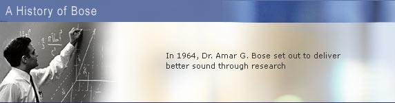 Dr. Amar G. Bose- Bose Corporation- Acoustics Pioneer